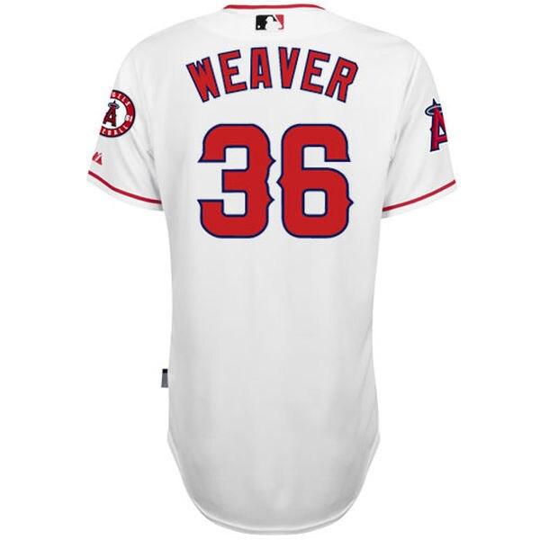 MLB Для мужчин Лос-Анджелес Ангелы Jered Уивер Бейсбол белый 6300 плеер подлинный Джерси