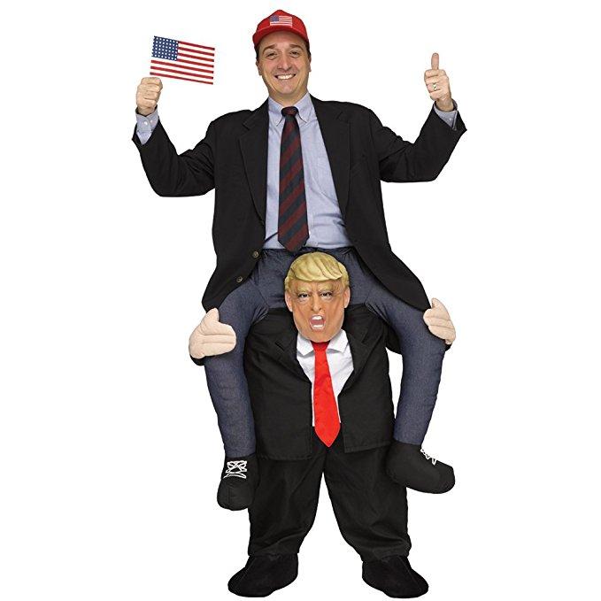 Drôle Donald Trump Rider Costume Costumes Adultes parti Mascot Nouveau Carnaval Pourim Fantaisie Robe costume