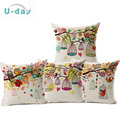 Bird and Bird Cage decorative pillow /  linen cushion modern creative coussin/cojines decorativos/almofadas vintage /
