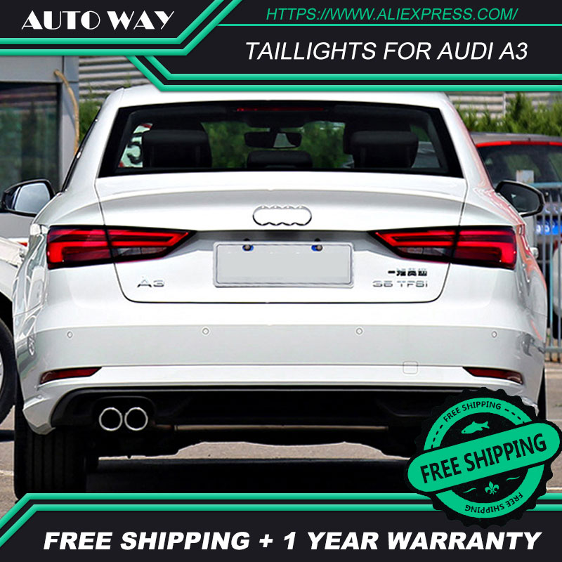 Car Styling taillight tail lights case for Audi A3 S3 2013-2017 LED taillights Sedan car Tail Lamp rear trunk lamp cover Car Styling taillight tail lights case for Audi A3 S3 2013-2017 LED taillights Sedan car Tail Lamp rear trunk lamp cover