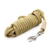 Nylon Pet Dog Collar Leash Leather No Pull Rope Training Leads Large Correas Para Perro Pet Control German Shepherd Belt 45QY8