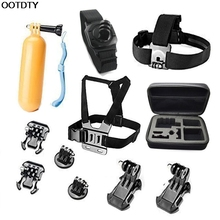 11 in 1 Pole Head Chest Mount Strap For GoPro Hero 2 3 4 Camera Accessories Set Kit #L060# new hot