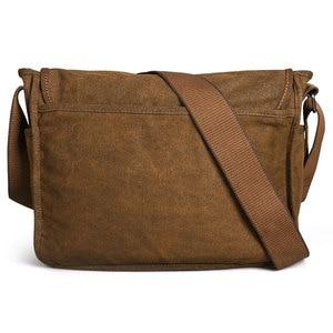 Image 4 - Retro Canvas bag men shoulder bags leisure wear resistant cross messenger bag Unisex casual crossbody Bags Leisure Package
