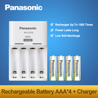 Original Panasonic 4PCS AAA Batteries + Fast Charger Sets New Arrivals 1.2V NI MH Cycle Pre charged Rechargeable Battery