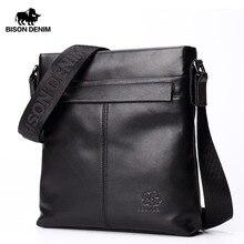 BISON DENIM Brand Men Shoulder Bag Genuine Leather 10.5