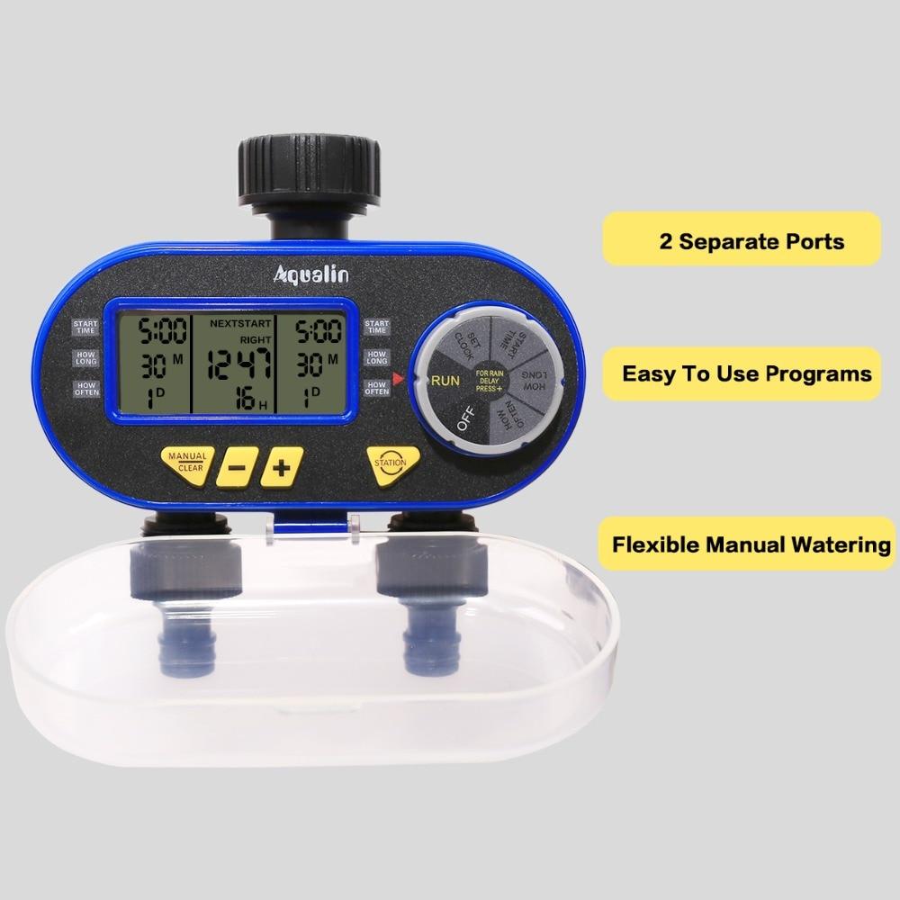 Digital Electronic Garden Water Timer With Rain Delay Button for Garden 2