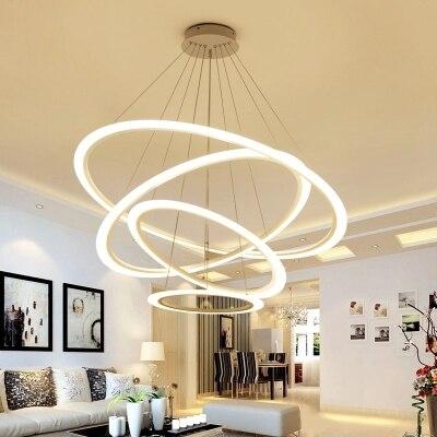 led chandelier Living Room Modern Restaurant Chandelier 4/3/2/1 Acrylic Bedroom LED Chandelier abaju