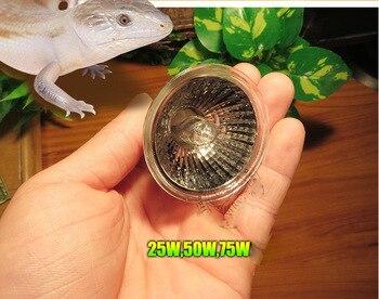110v UVA UVB 3.0 Reptile Terrarium Halogen Tungsten E27 Light Bulb Stimulate Appetite Calcium Synthesis Vitamin D3 25W 50W 75W 1