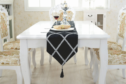 Funlife-Shop Europe Table Runners Modern Chemin De Table Table Runners for Wedding Party Camino De Mesa Tafelloper Tablecloth Bed Flag Home-Beige-Modern,28X180Cm