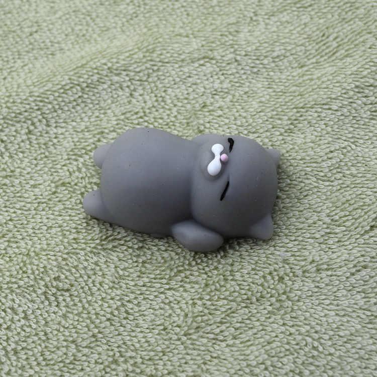 Kawaii медленно распрямляющийся мягкий панда/кошка/пищащая Игрушка антистресс Squeeze Забавный гаджет мягкий силиконовый ручная игрушка резиновые игрушки для детей