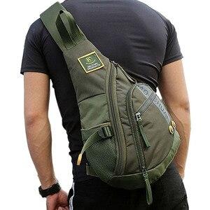 Image 3 - Waterproof Nylon Men Single Shoulder Cross Body Bag Military Travel Sling Rucksack Chest Back Pack Messenger Bags High Quality