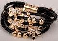 Кожа стрекоза многослойных браслет позолоченный Рождество благодарения праздник ювелирные изделия подарки для женщин LA22 оптовые dropshipping
