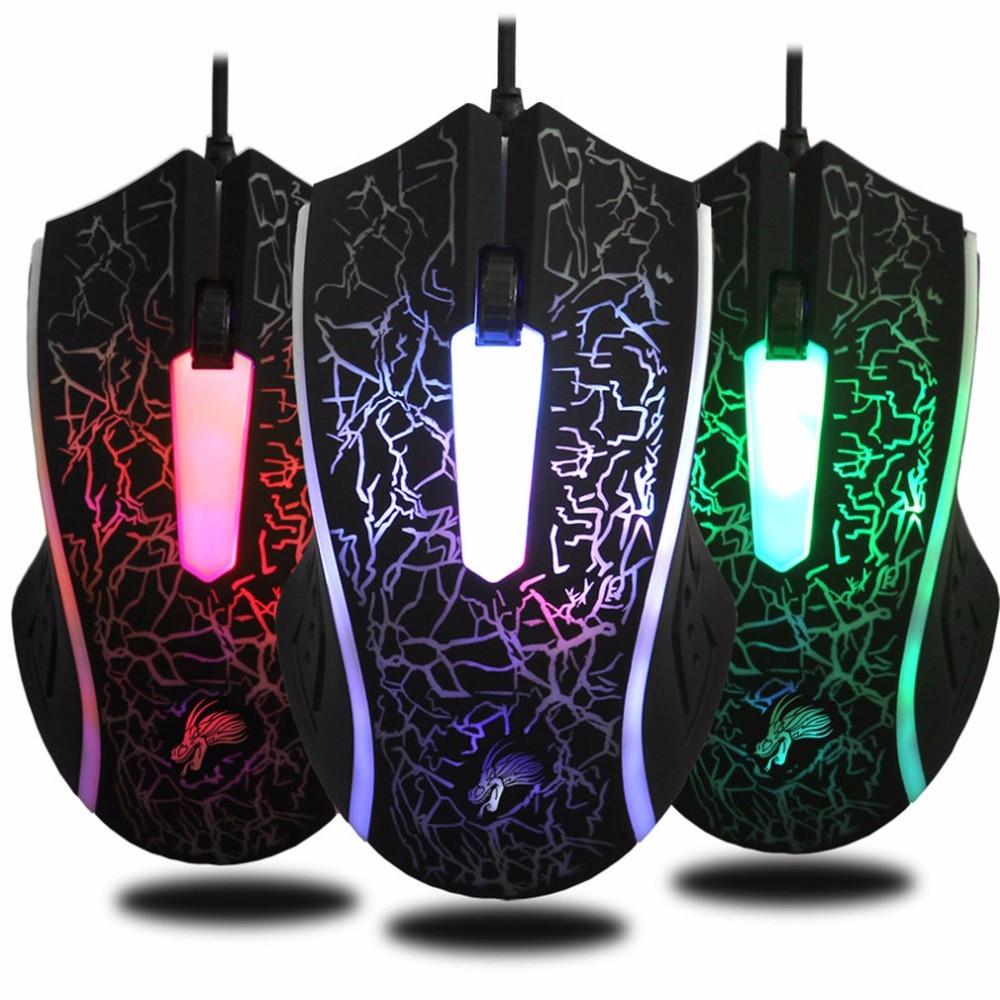 X7 Haute Qualité Professionnelle Filaire Gaming Mouse 3 Bouton 4000 DPI LED Optique Ordinateur Souris Gamer Souris Pour Ordinateur Portable PC