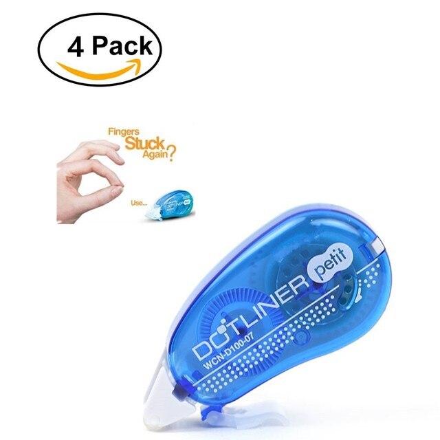 4 шт./лот 6 мм Мини двусторонняя клей точки липкий ролик, перманентные наклейки аппликатор, клей клейкие ленты диспенсер
