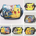 Game Boy Pokemon Pikachu Canvas Messager Saco de Escola Saco de Lazer Ombro Pika