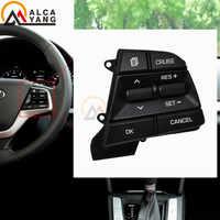 Auto di Controllo di Crociera Volante Bottoni Interruttore Nero per Hyundai Elantra AD Solaris 2017 2018 1.6L