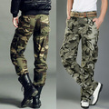 High Quality Fashion Pocket Men's Camouflage Pants Overalls Casual Loose Pants Cargo Pants 2 Colors free shipping