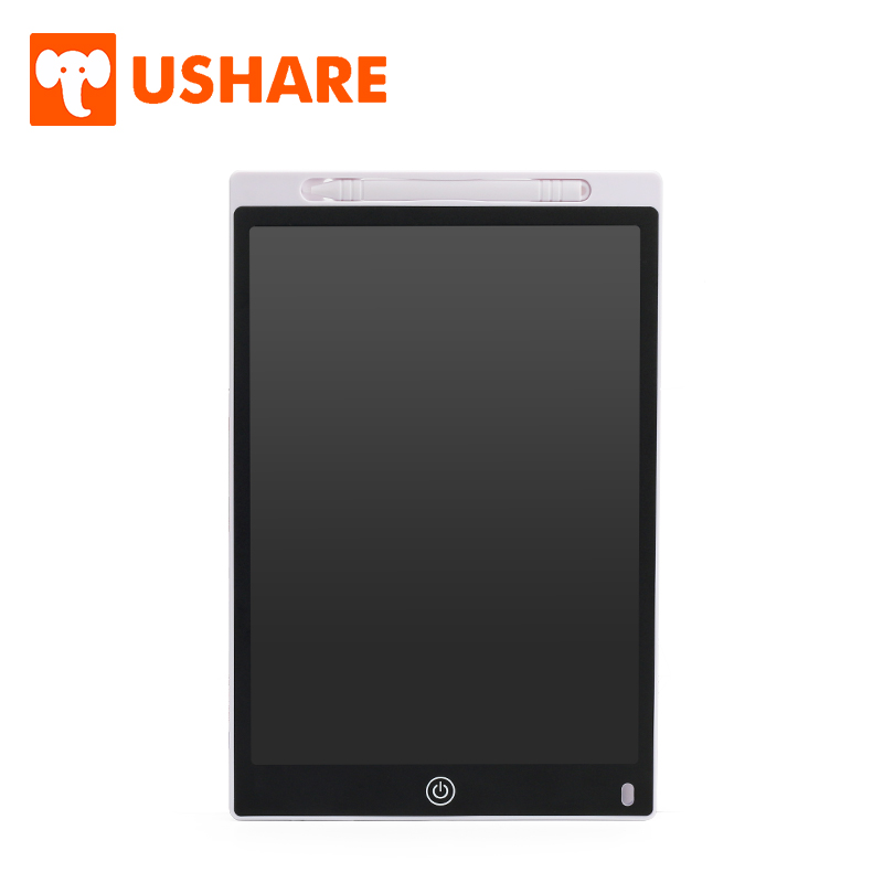 USHARE Magnetic Memo Electronic Drawing Board Notice Letter Message Board 12 Inch LCD Writing Board Children Home Office Supply