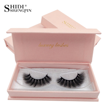 SHIDISHANGPIN 3d mink lashes natural long makeup false eyelash extension hand made full strip #62