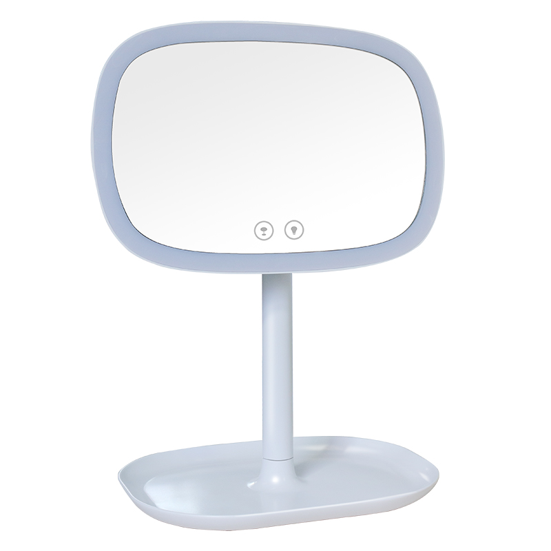 Newest 3-In-1 LED Makeup Mirror Table Lamp And Jewelery, Cosmetics Organizer -Touch Control LED Makeup Mirror And Table Lamp W