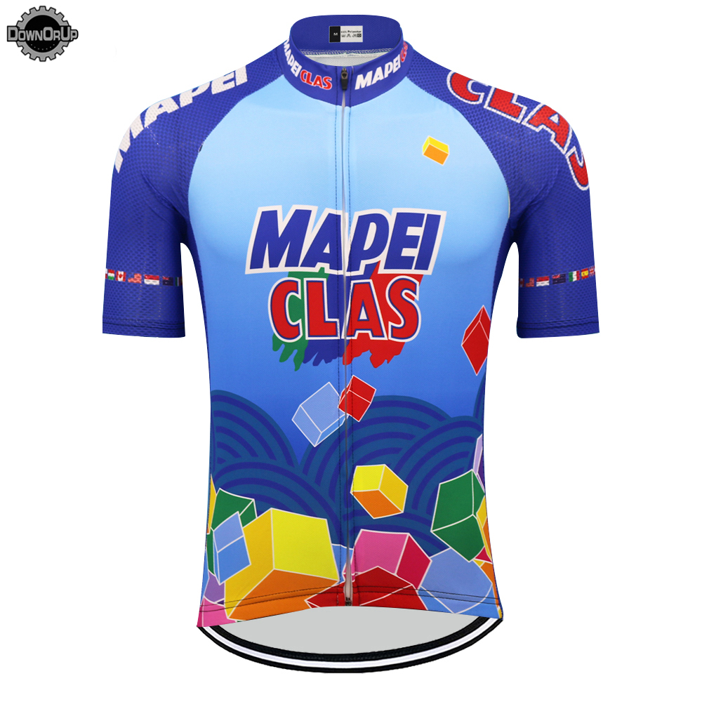 NEW mapei clas cycling jersey men short sleeve ropa ciclismo bike wear mtb jersey cycling clothing maillot ciclismo clothes