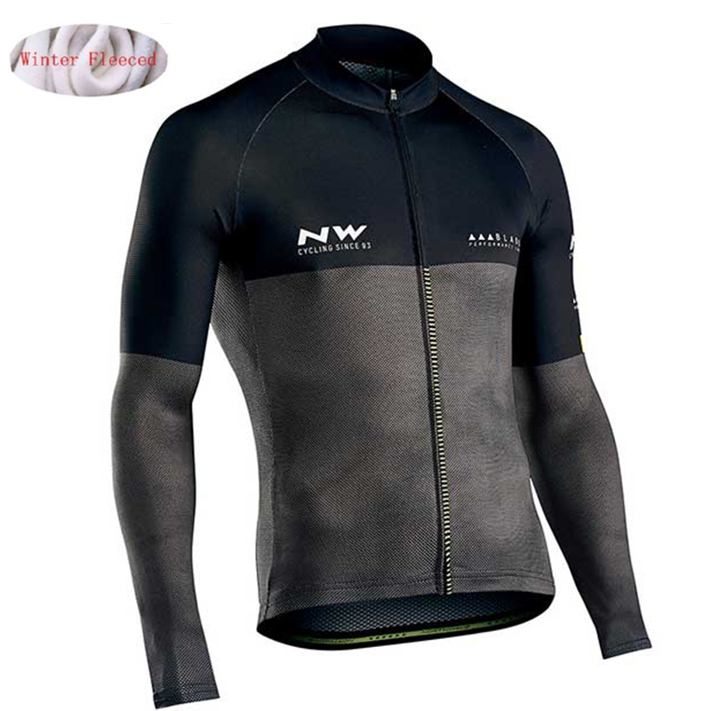 Bike Clothing Jacket Bicycle Fleece Jersey MTB NW Choices Winter Pro-Team Warm Men Multiple