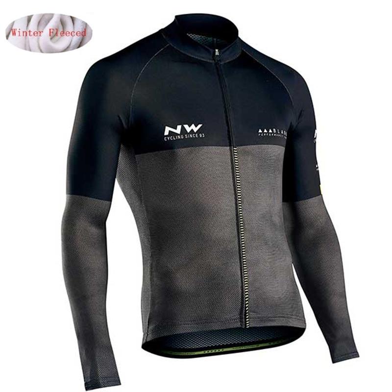Bike Clothing Jacket Bicycle Fleece Jersey MTB Winter NW Pro-Team Warm Men Multiple Choices