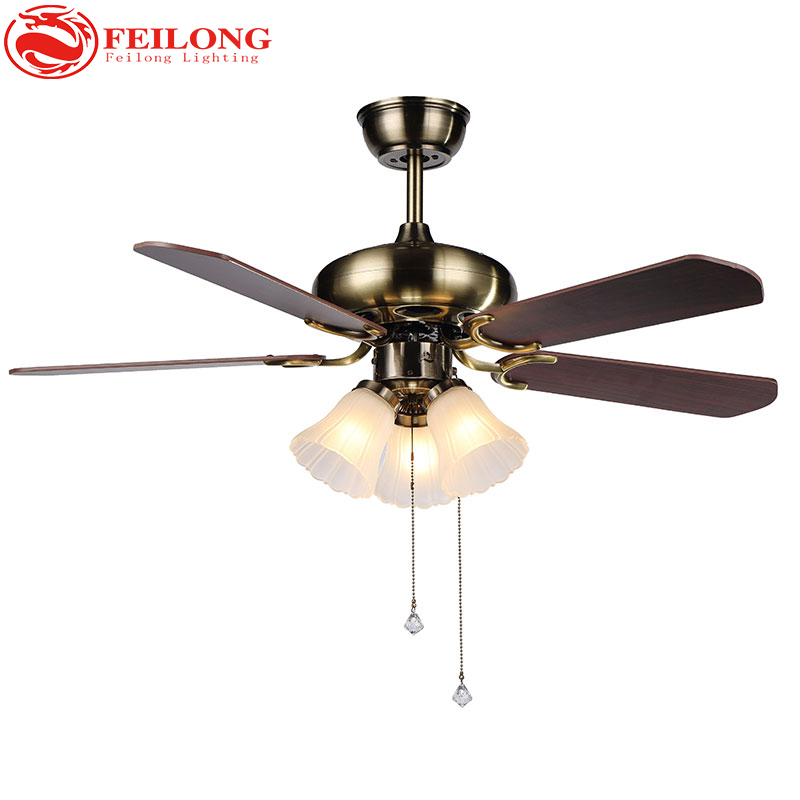 Decorative Wood Blades Ceiling Fan 4205 Red Church Glass Shades ceiling fan with light k ...