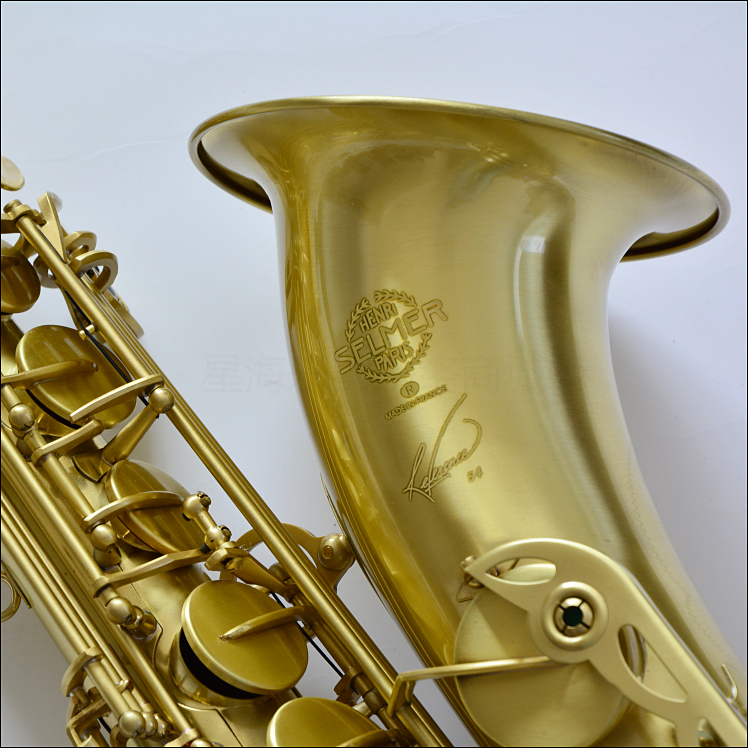 Tenor Saxofone France Henri Saxophone Selmer Sax Bb Flat Brass Carved 54 Bronze Tenor Saxofone with Gloves Cleaning Cloth Brush bb f tenor trombone lacquer brass body with plastic case and mouthpiece musical instruments