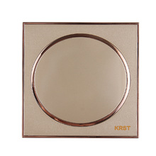 Wall Switch Socket, 86-Type High-End Home Decoration Round Extreme Gold Piano Paint, Blank Panel, 10A PC110-250V