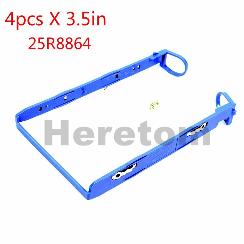 Heretom 4pcs/lot 3.5'' SATA Hard Drive Tray Caddy Sled For IBM Server X206M X3200 3.5in HDD Caddy Bracket 25R8864 W/screws