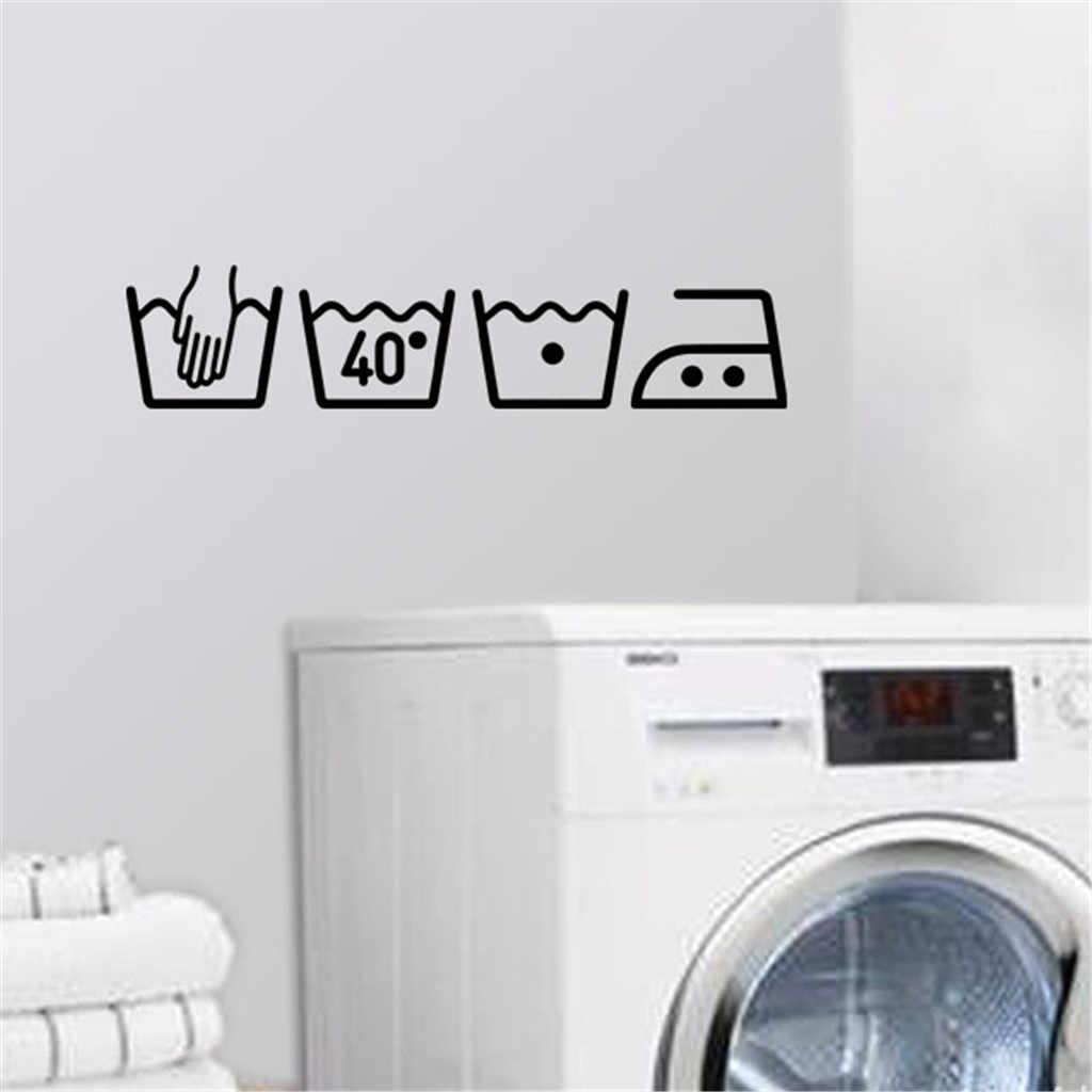 KAKUDER gorąca sprzedaż mycia maszyny wymienny Art Vinyl ścienne strona główna wystrój pokoju naklejki ścienne na ścianie do pralni dropship