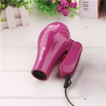 Portable Folding Travel Hair Blow Dryer Mini Household Thermostatic Hair Dryer With 2 Air Settings Low Noise Hair dryer Chinese 1500w mini foldable hair dryer blower travel household electric hair blow dryer hot wind low noise hairdryer eu plug ac 220v