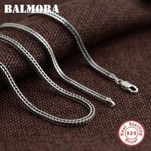 BALMORA 100% puro 925 plata esterlina cadenas collares para hombres collar accesorios 18-30 pulgadas JLWC60058