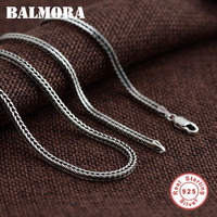 BALMORA 100 Pure 925 Sterling Silver Jewelry Chains Necklaces For Men Sterling Silver Necklace Accessories 18