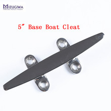 1PC Mizugiwa 5″ / 6″ Open Base Flat Top Boat Cleats Heavy Duty 316 Stainless Steel Boat Cleat Base Dock Deck Bollard Yacht
