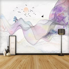 Creative wallpaper modern abstract artistic ink background wall professional custom mural photo