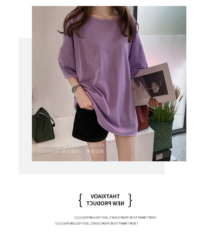 Candy Color Short Sleeve Loose T-Shirts Girls Summer 19 New Cool O-Neck Boyfriend Student Women T-Shirt Lady Tops Plus Size 12