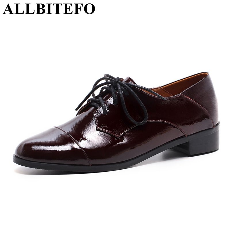 ALLBITEFO hot sale full genuine leather thick heel women pumps fashion casual high heels girls high heel shoes Sra zapato hot sale new fashion luxury real leather women thick heel pumps flock mix color wedding shoes woman flock sexy elegant pumps
