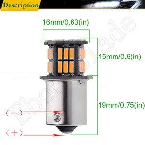 Image 3 - 2Pcs שעות היום אור S25 1156 BA15S P21W 3014 36 SMD אוטומטי LED ענבר כתום צהוב איתות הנורה מנורת רכב סטיילינג 12V DC