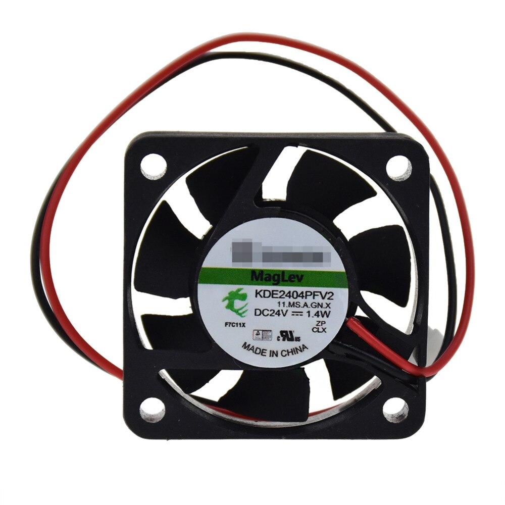 Para sunon kde2404pfv2 4010 24 v 1.4 w 2pin mudo maglev ventilador de refrigeração
