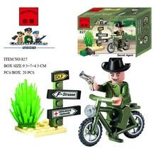 Enlighten Elder Secret Agent Combat Zones Series Blocks Toy NO.827 Minifigures Building Blocks Children Gift Toys 20pcs