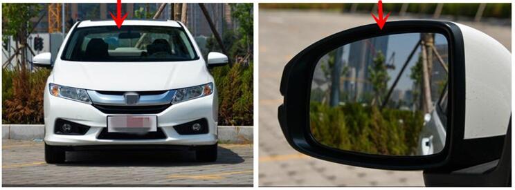 LED chauffage arrière clignotant bleu courbure anti désembuage éblouissant rétroviseur pour Honda CITY 09-14/15-17 - 2