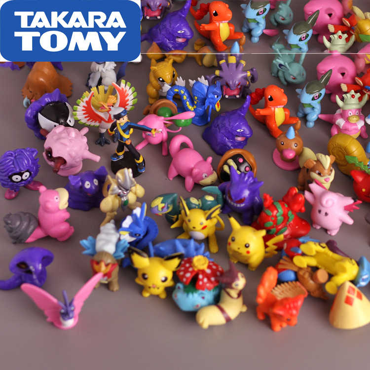 New Pokemon Running pikachu Action Figure Toy 2 inch Xmas Gift