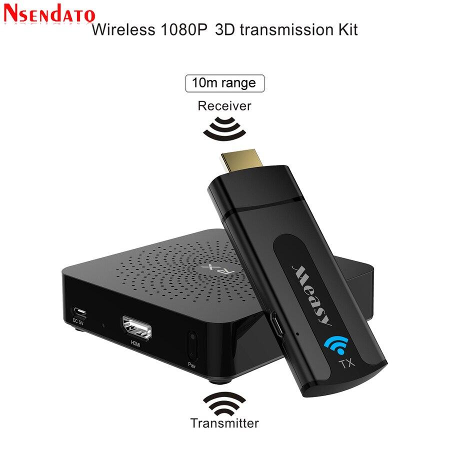 W2H Mini Sans Fil HDMI Émetteur Récepteur Extender 1080 p 3D 10 m Sans Fil Audio Émetteur-Récepteur de L'expéditeur pour HDTV Projecteur