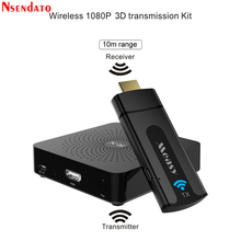 W2H Mini Wireless HDMI Transmitter Receiver Extender 1080P 3D 10M Wireless Audio Transmitter Sender Receiver for HDTV Projector
