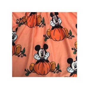 Image 3 - Fall/Winter Girls Boutique Clothes Orange Pumpkin Mickey Print Dress Children Girls Long Ruffle Sleeve Halloween Cartoon Dresses