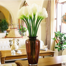 1PCS Calla Lily Wedding Bridal Bouquets Home Decor Artificial Flower Mother Gift