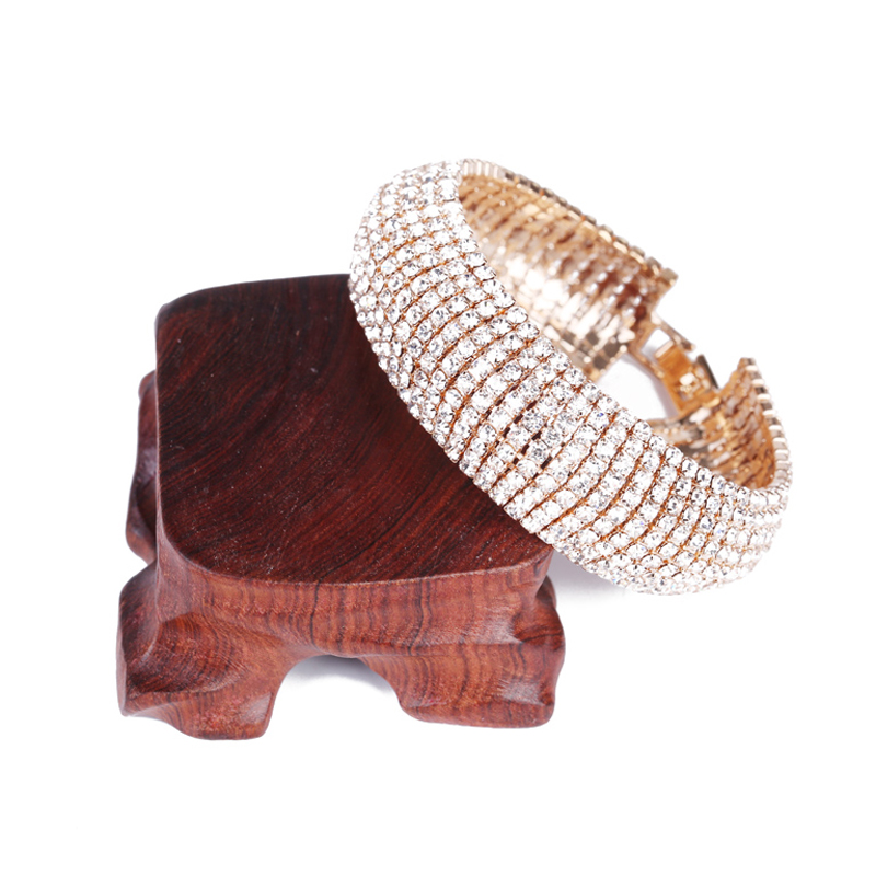 New Bracelet Fashion Wedding Bridal Bangle Bling Wristband Women Jewelry Free shipping Charm