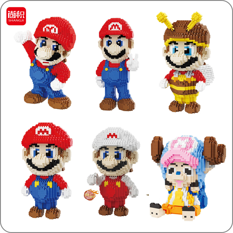 Super Mario Victory Red Fire Bee Mario One Piece Tony Chopper 3d Model DIY Diamond Nano Blocks Mini Building Toy Gift CollectionSuper Mario Victory Red Fire Bee Mario One Piece Tony Chopper 3d Model DIY Diamond Nano Blocks Mini Building Toy Gift Collection